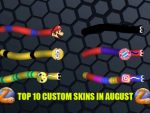 Top 10 Slither.io Custom Skins in August