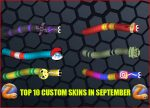 Top 10 Slither.io Skins in September