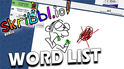 skribbl.io word list