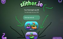 Playing With Slitherio AI Vs Online