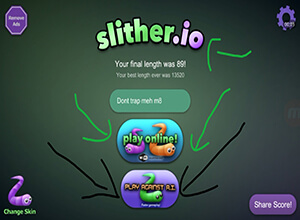 Photo of Playing With Slitherio AI Vs Online