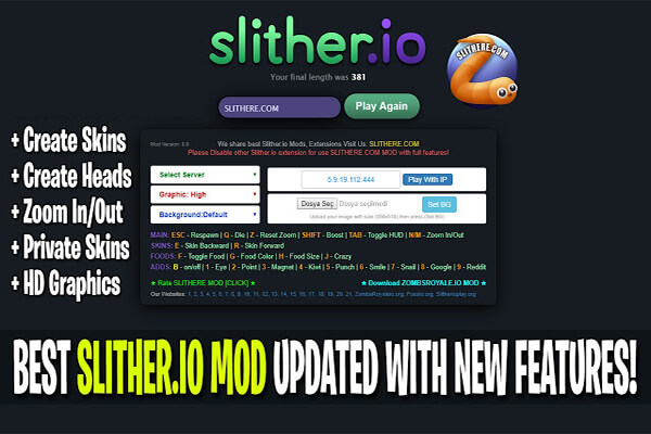 slitherio mods 2019