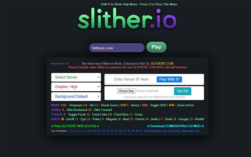 slitherio cheats 2019