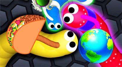 slither.io game play